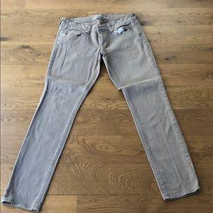 American Eagle Tan Skinny/Straight Jeans